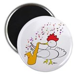 "Cocky Sax Player 2.25"" Magnet (100 pack)"