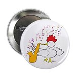 "Cocky Sax Player 2.25"" Button (10 pack)"