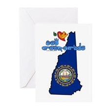 ILY New Hampshire Greeting Cards (Pk of 20)