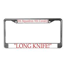 5th Squadron 4th Cavalry License Plate Frame