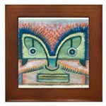 Ethnographic Mask Framed Tile