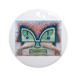 Ethnographic Mask Ornament (Round)