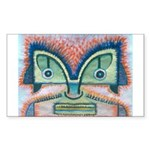 Ethnographic Mask Sticker (Rectangle 10 pk)
