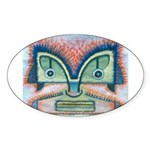 Ethnographic Mask Sticker (Oval 50 pk)