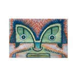 Ethnographic Mask Rectangle Magnet