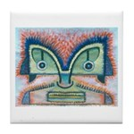 Ethnographic Mask Tile Coaster