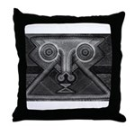 Joyful Mask B&W Throw Pillow