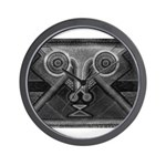 Joyful Mask B&W Wall Clock