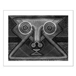 Joyful Mask B&W Small Poster