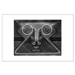 Joyful Mask B&W Large Poster