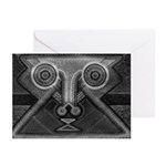 Joyful Mask B&W Greeting Cards (Pk of 10)