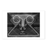 Joyful Mask B&W Postcards (Package of 8)