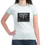 Joyful Mask B&W Jr. Ringer T-Shirt