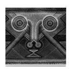 Joyful Mask B&W Tile Coaster