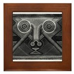 Joyful Mask B&W Framed Tile