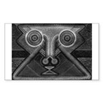 Joyful Mask B&W Sticker (Rectangle)