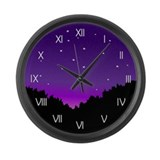 Starry Sky Celestial Wall Clock Large
