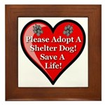 Adopt A Shelter Dog Framed Tile