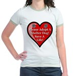 Adopt A Shelter Dog Jr. Ringer T-Shirt