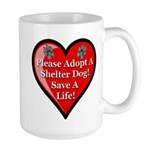 Adopt A Shelter Dog Large Mug