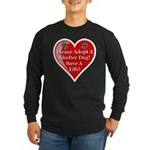 Adopt A Shelter Dog Long Sleeve Dark T-Shirt