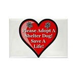 Adopt A Shelter Dog Rectangle Magnet (100 pack)