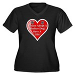 Adopt A Shelter Dog Women's Plus Size V-Neck Dark