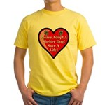 Adopt A Shelter Dog Yellow T-Shirt