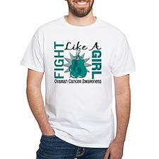 Fight Like A Girl Ovarian Cancer Shirt
