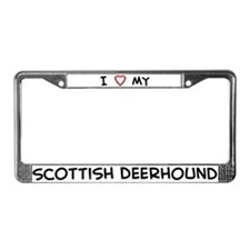 I Love Scottish Deerhound License Plate Frame