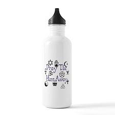 Pray The Hate Away Purple Water Bottle