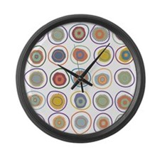 circles in cirlcles Large Wall Clock