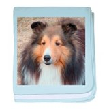 Cute Shetland sheepdog baby blanket