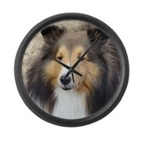 Unique Shetland sheepdog Large Wall Clock