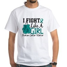Fight Like A Girl Ovarian Cancer Shirt
