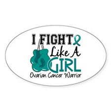 Fight Like A Girl Ovarian Cancer Decal