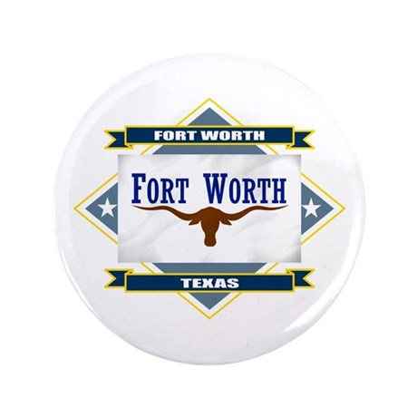 "Fort Worth Flag 3.5"" Button"