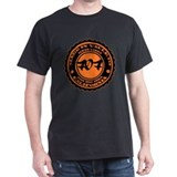 Made in Vallejo - Orange on Black T-Shirt