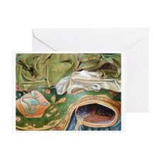 """Green Folds"" Greeting Card"