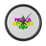 NOLA Bound Large Wall Clock
