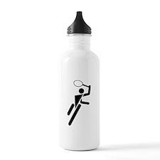 Tennis Silhouette Sports Water Bottle