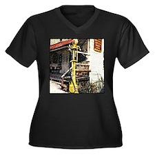 Cute Ga Women's Plus Size V-Neck Dark T-Shirt