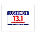 13.1 - Just FINISH bib Small Poster