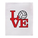 Volleyball Love - Red Throw Blanket