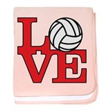 Volleyball Love - Red baby blanket
