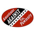 Americans Against Pawlenty Oval Bumper Sticker