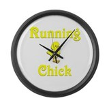 Running Chick Large Wall Clock