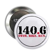 "140.6 Swim Bike Run 2.25"" Button (10 pack)"