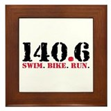 140.6 Swim Bike Run Framed Tile