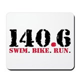 140.6 Swim Bike Run Mousepad